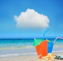 nuage et boisson photo