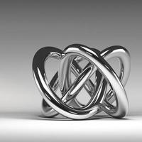 Noeud abstrait en chrome 3D photo