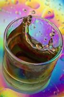 boisson de couleur splash photo