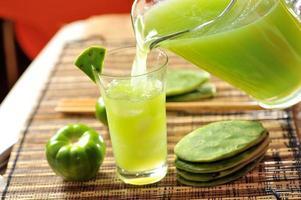 boisson de cactus de figue de barbarie photo