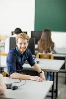 étudiants en classe photo