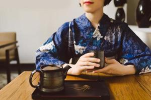 boire du thé photo