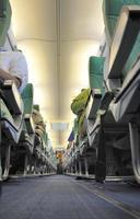 à l'intérieur d'un avion