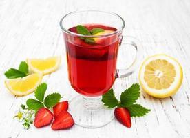 boisson aux fraises d'été