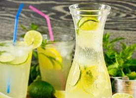 boisson fraîche à la limonade