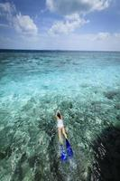 plongée en apnée pendant les vacances photo