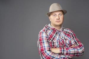 portrait, jeune, homme, chapeau photo