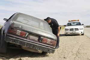 officier de police au travail photo