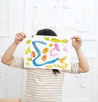 peinture petite fille