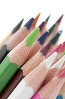 incliner l'image des crayons de couleur photo
