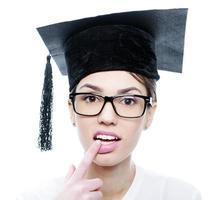 giri en chapeau de graduation photo