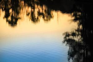 lac dégradé bleu et orange