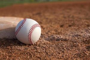 baseball près de la troisième base photo