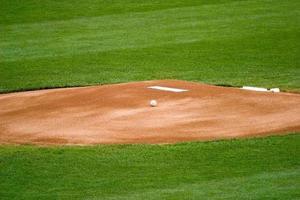 baseball sur monticule de pichets photo