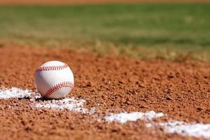 baseball dans le champ intérieur photo