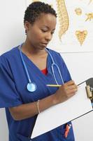 infirmière travaillant photo