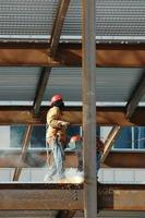 construction (soudage de poutres en acier - 1)