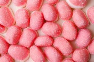 gelées roses ou guimauves en arrière-plan