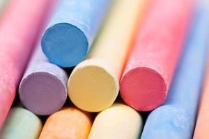 morceaux de craies colorées