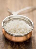 riz basmati à la vapeur indien