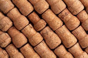 texture de bouchons de vin champagne photo