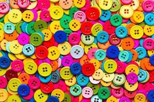 boutons de couture colorés photo