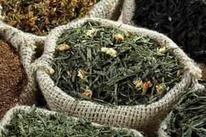 feuille de thé au jasmin