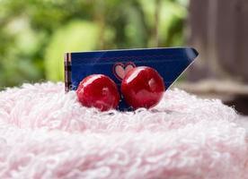 serviettes et décoration photo