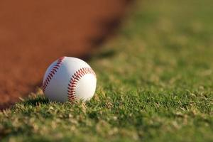 baseball sur le terrain photo