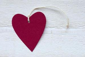 étiquette coeur rouge avec espace copie photo