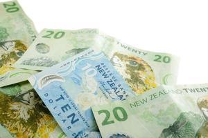 Monnaie de la Nouvelle-Zélande avec espace copie