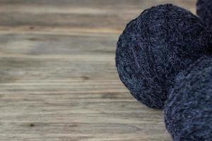 Macro clew de fil de laine avec copie espace photo