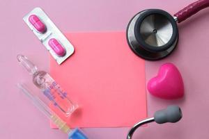 antécédents médicaux et espace de copie pour le texte photo