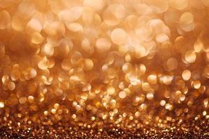 fond de paillettes défocalisé or avec espace copie