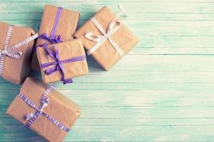 boîtes à cadeaux photo