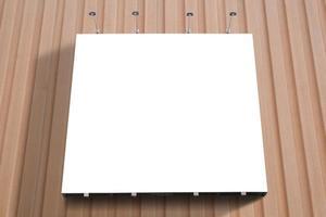 affiche vierge panneau fixé au mur avec espace de copie. photo