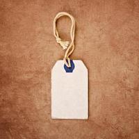 étiquette de prix vintage discount blanc comme espace de copie photo
