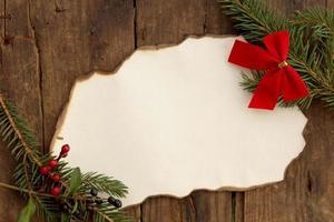 fond de Noël avec ruban de papier - espace de copie pour le texte photo