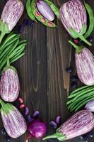 Marché de producteurs de légumes d'en haut, espace copie. fond d'alimentation saine. photo
