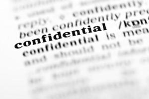 confidentiel (le projet de dictionnaire)