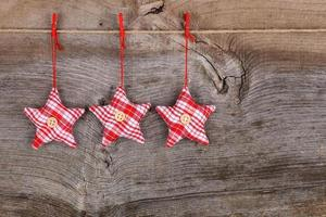 tissu rouge étoile joyeux noël décoration rustique bois backgroun photo