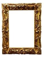 vieux cadre photo doré