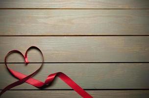 ruban rouge avec fond photo