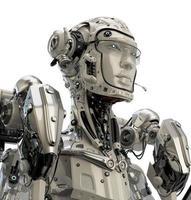 travailleur médical futuriste photo