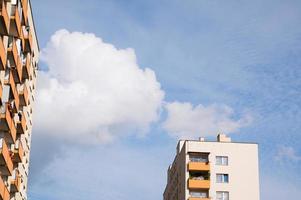 nouveaux bâtiments résidentiels avec espace copie photo