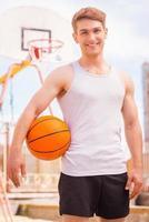 joueur de basketball. photo