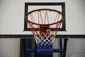 panier de basket en arrière-plan photo