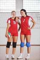filles, jouer, volley-ball, intérieur, jeu photo