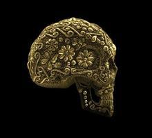 crâne de sucre mexicain doré photo