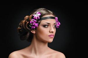 beauté et violettes photo